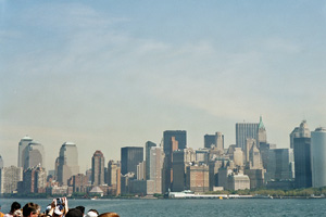 07-09-02 - The skyline of Downtown on my way to the Statue of Liberty
