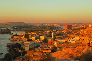 17-02-13 - Aswan blazed in the sunset light