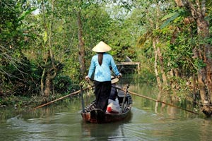 10-03-15 - Tour at a small back water of Mekong Delta with boat