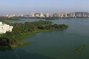 01-05-17 - View from Hotel Renaissance to Lake Powai and Hiranandani